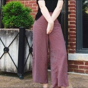 Red and Black Flare Pants